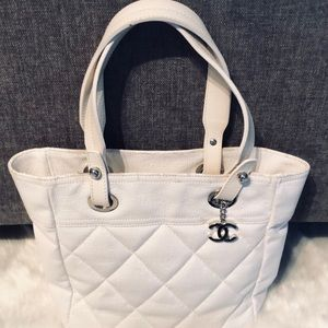 Chanel Paris Biarritz Quilted Coated Canvas Tote